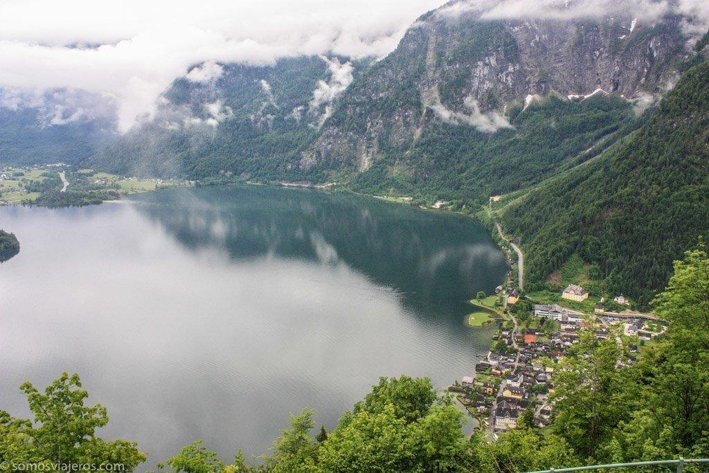 vista panorámica de Hallstatt