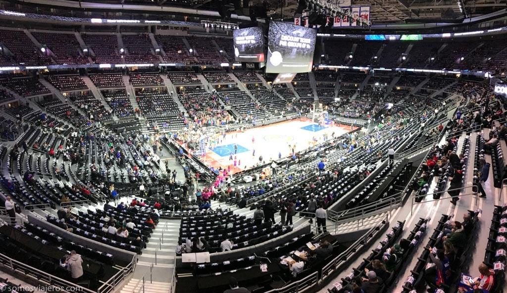 partido de la NBA de los Detroit Pistons. vista general