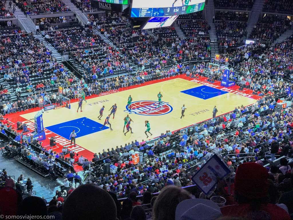 partido de la NBA de los Detroit Pistons. durante el partido