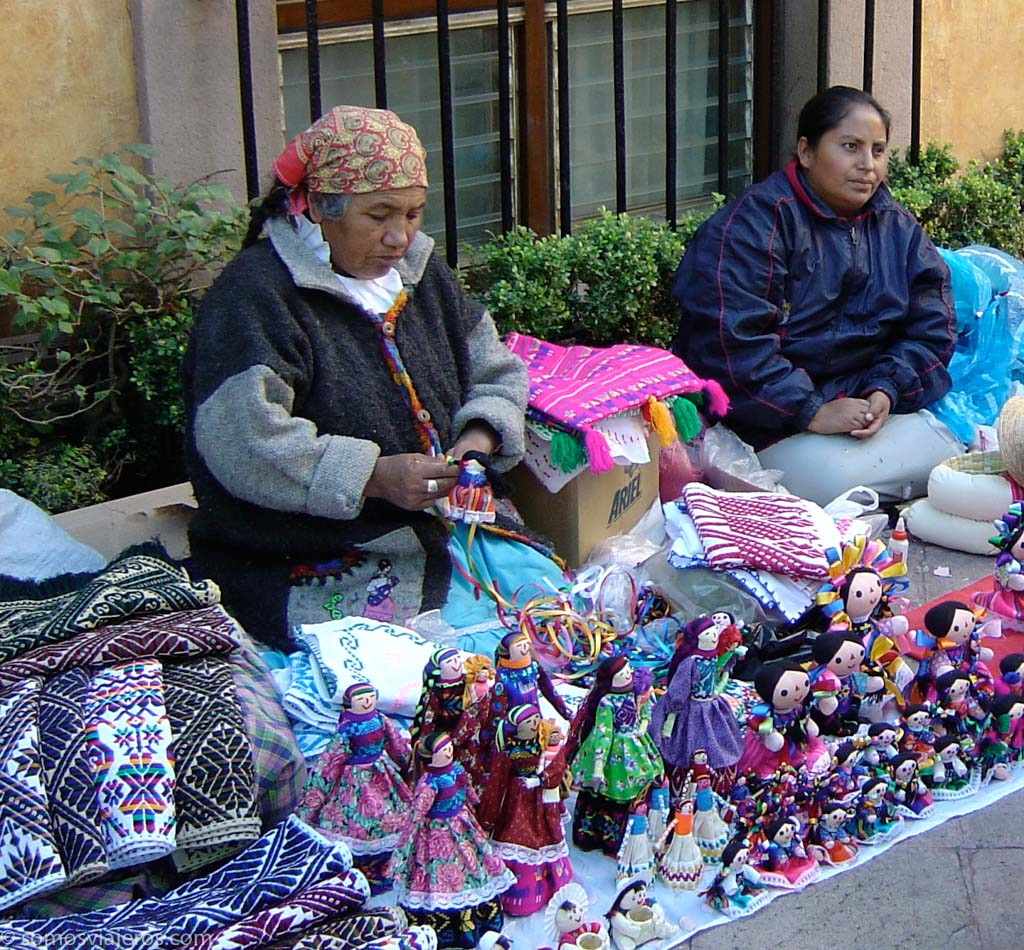 Venta de artesanía en Querétaro