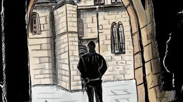 Dibujos viajeros. Carcassonne entre sombras