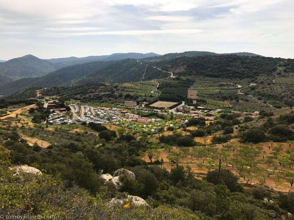 vista camping vilanova de Prades