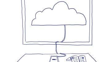 La visión de los niños de la tecnología: la nube