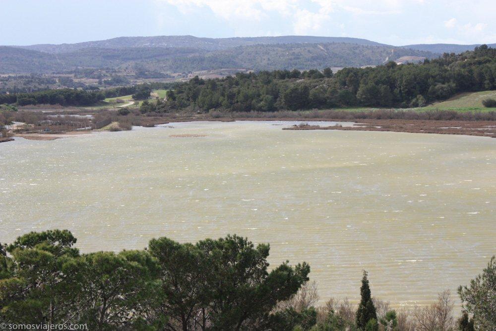laguna en reserva africana de sigean