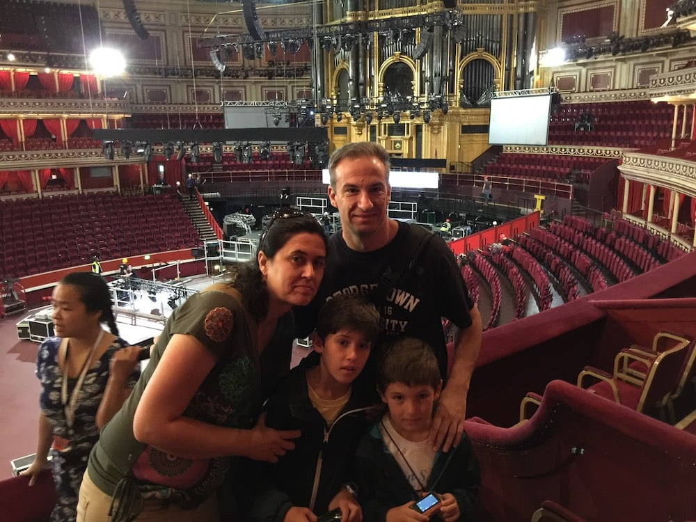 Londres con niños. Royal Albert hall