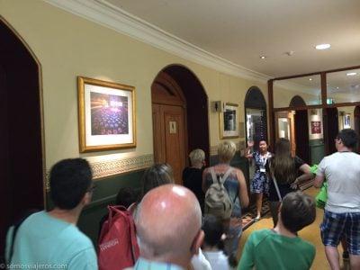 Visita guiada en el interior del edificio