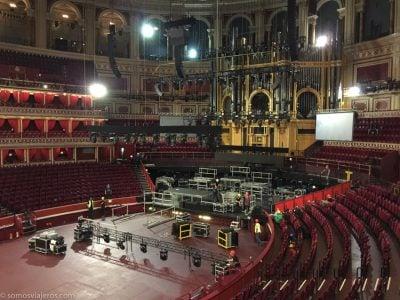 Royal Albert Hall de Londres. Preparando el concierto de Carlos Vives