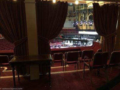 Vista desde los boxes del escenario