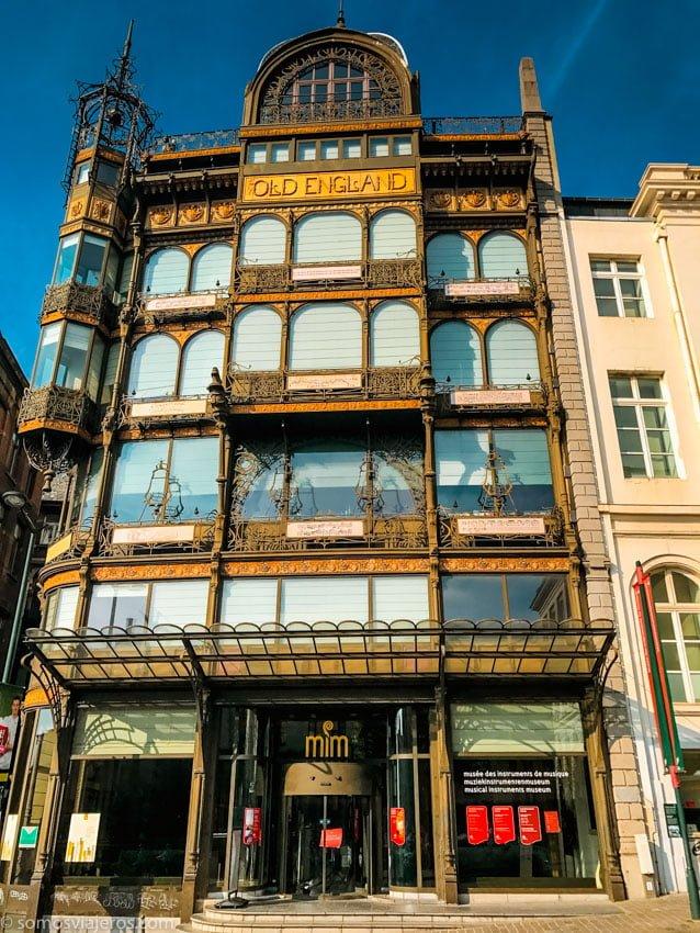 fachada exterior MIM Museo de instrumentos musicales de bruselas