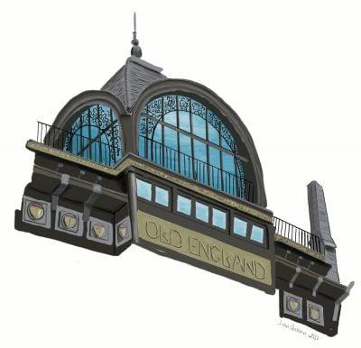 dibujo museo instrumentos musicales bruselas