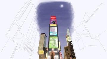 Dibujos viajeros.Times Square en Nueva York