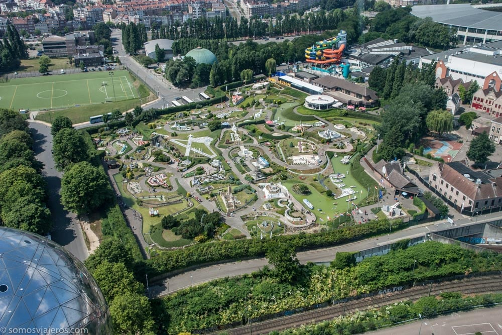 Vista mini Europe desde el atomium