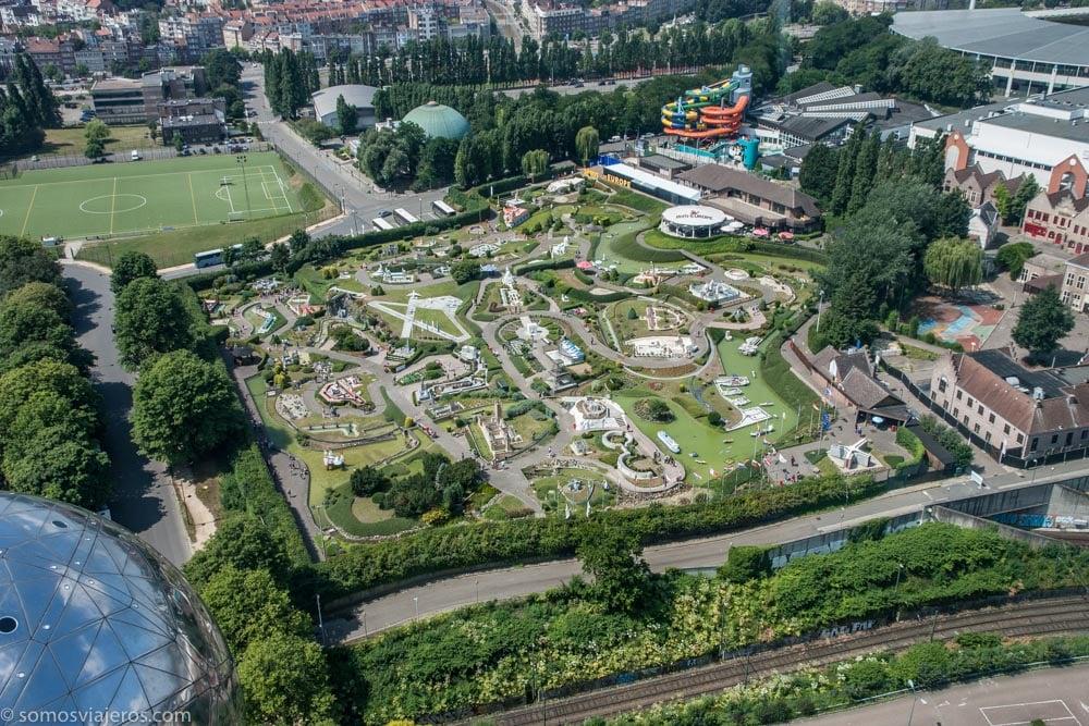 Vista mini Europe desde el atomium