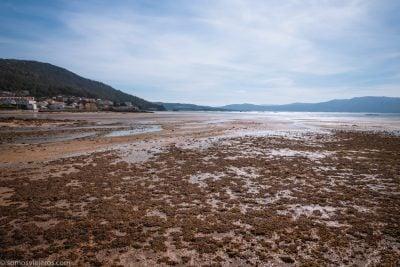 marea en muros en nuestro viajar a Galicia