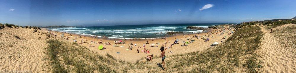 parque natural de las dunas de liencres. vistas del mar y las dunas