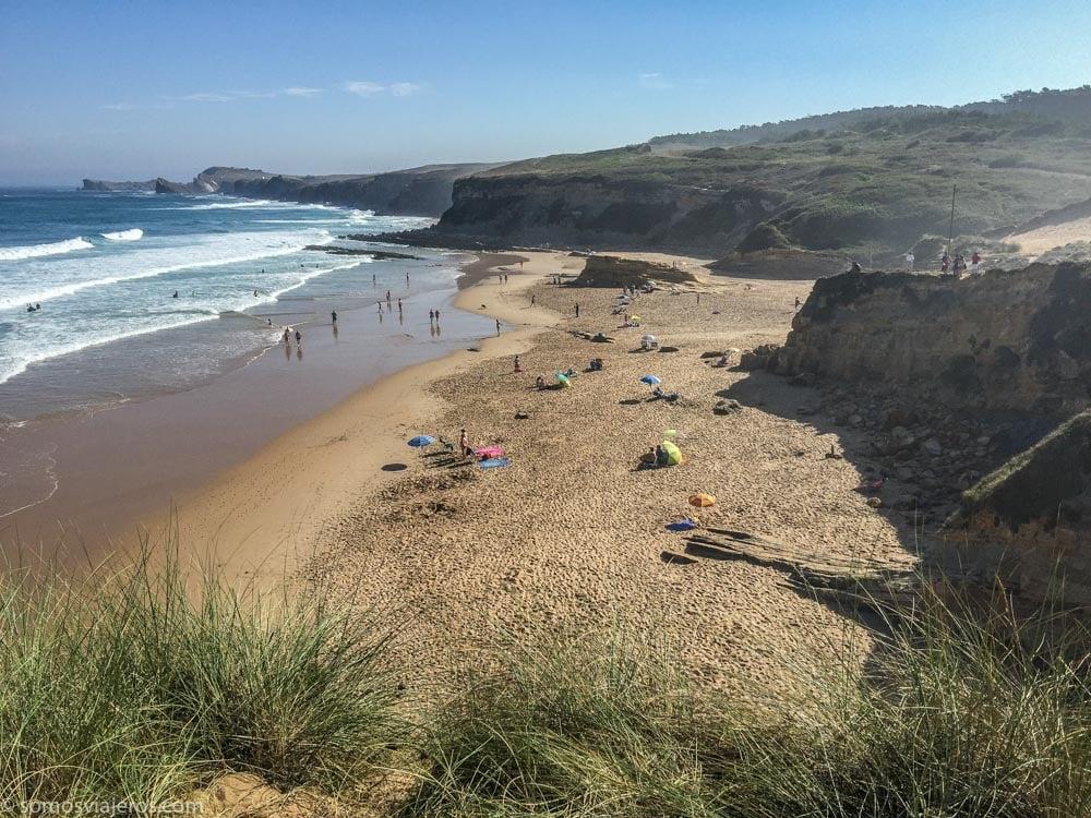 parque natural de las dunas de liencres en Cantabria - playa de canavalle