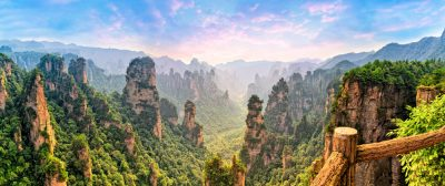 vista del parque natural de Zhangjiajie