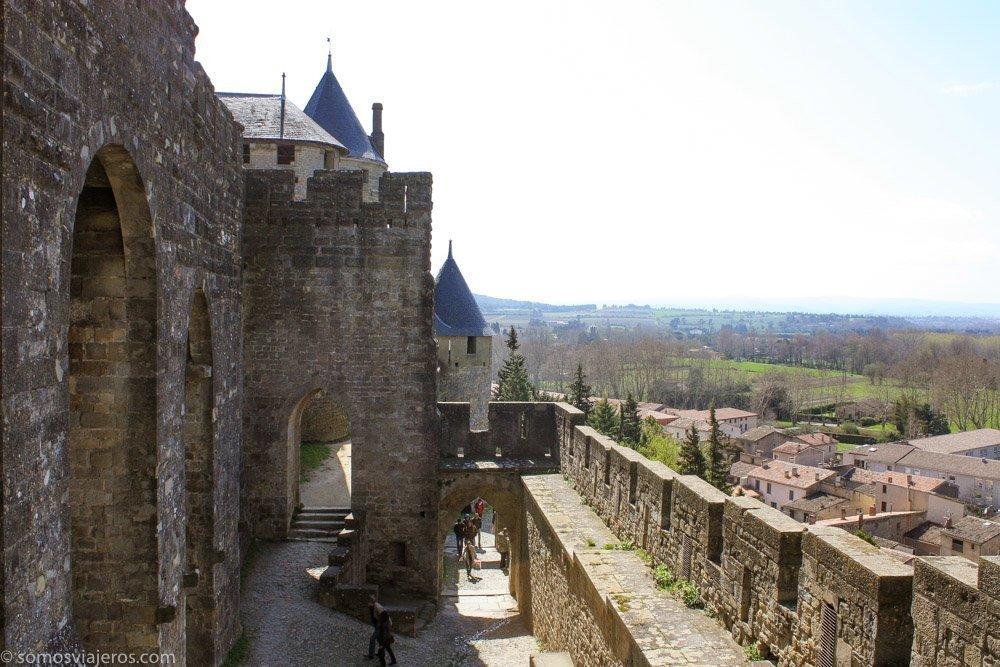 Vistas de Carcassonne desde la muralla