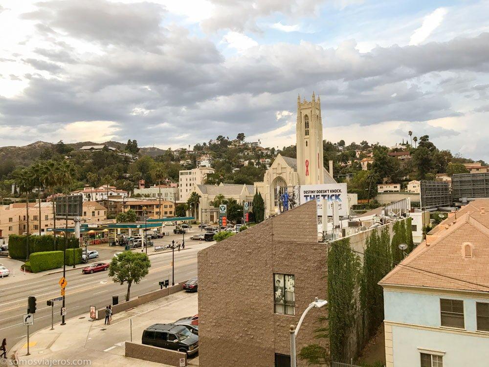 Vistas desde nuestro apartamento en Los Angeles cerca del paseo de la fama