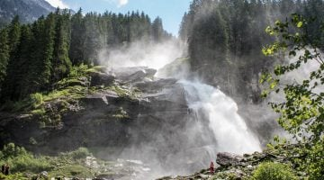 Visitar las cascadas Krimml en el parque nacional Hohe Tauern