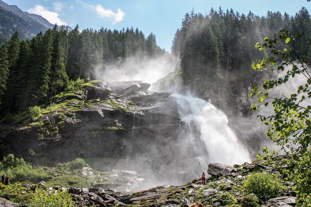 vista cascadas krimml
