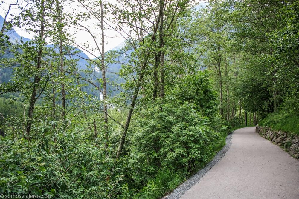 camino cascadas krimml