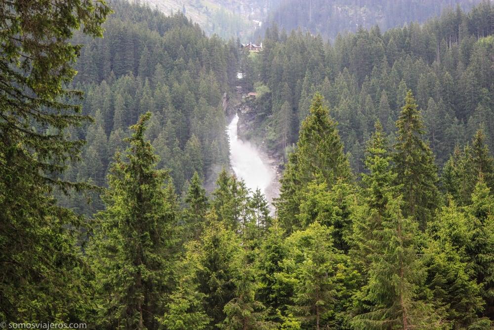 vista lejana cascadas krimml