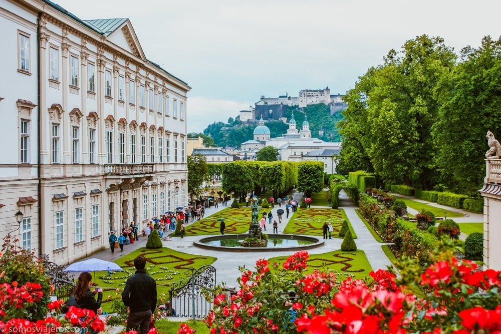 jardines mirabell - vista castillo