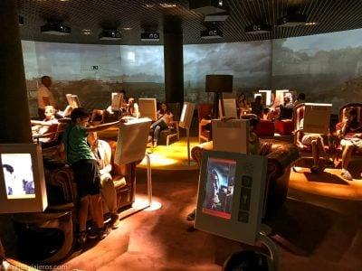 Sala de los sillones en el Parlamentarium