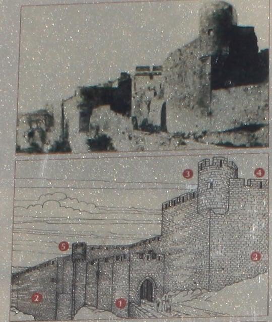 Vista antigua de Lagrasse