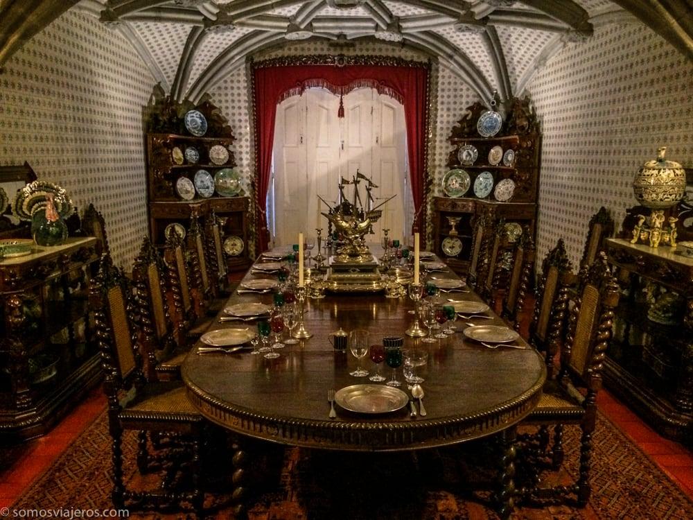 comedor en el palacio da pena
