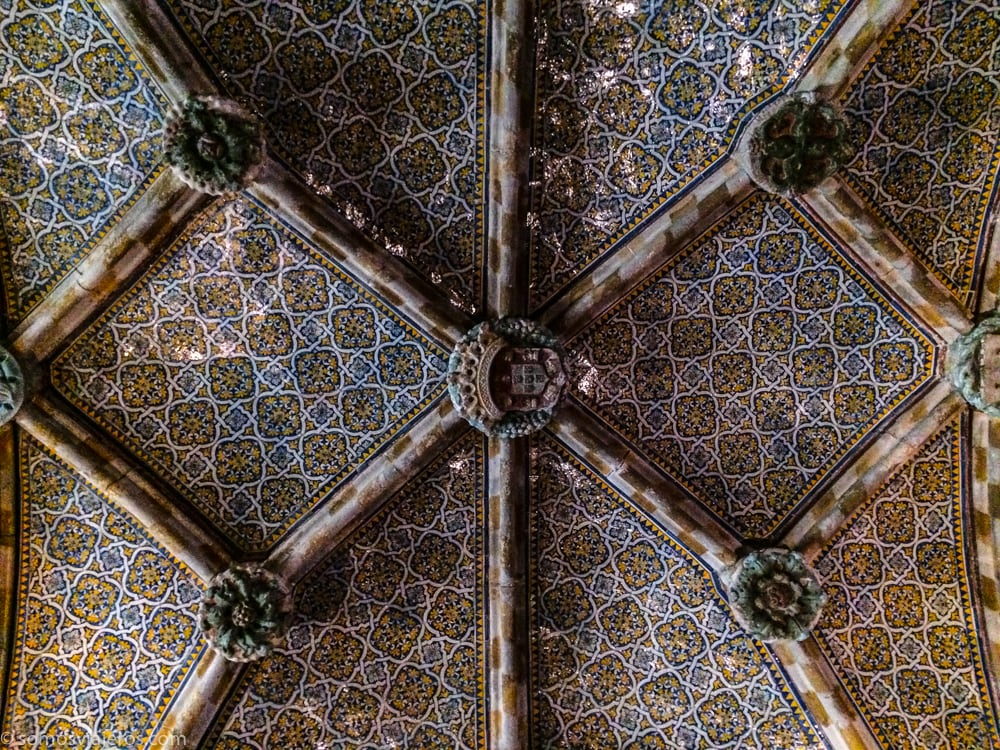 interior techos palacio da Pena