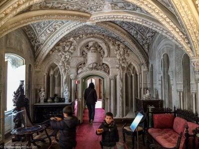 salón árabe en el palacio da pena