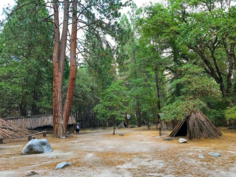 explanada del poblado Indio en Yosemite