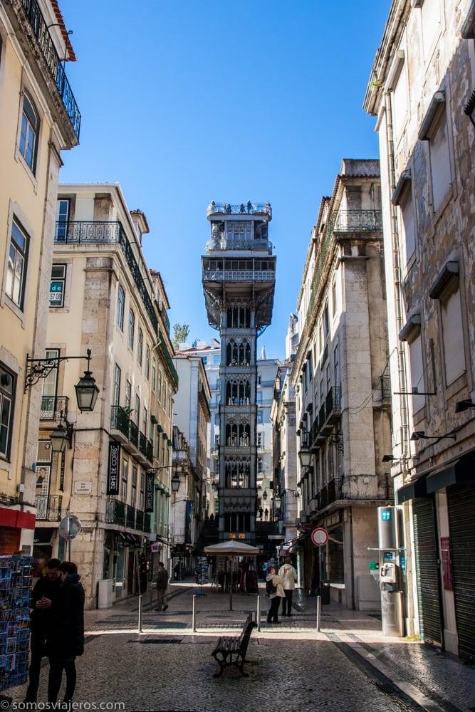 Lisboa Desde El Elevador De Santa Justa Somos Viajeros