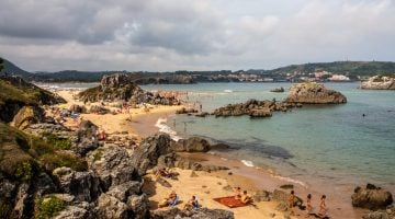 La costa de Noja y Santoña en Cantabria