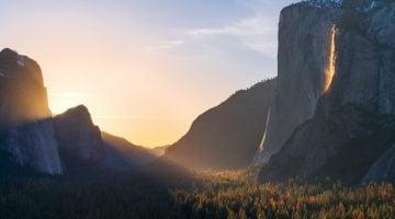 La cascada de fuego en Yosemite