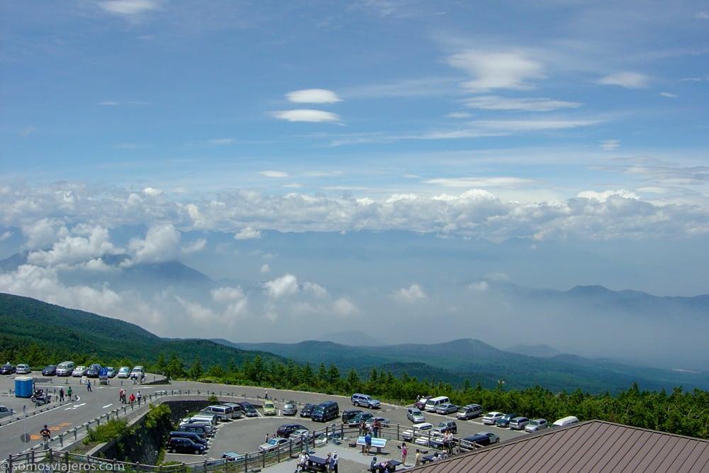 vista desde el monte fuji