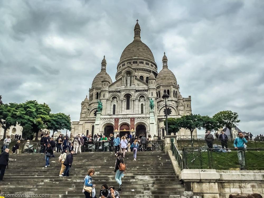 vista de la iglesia de Sacre-coeur