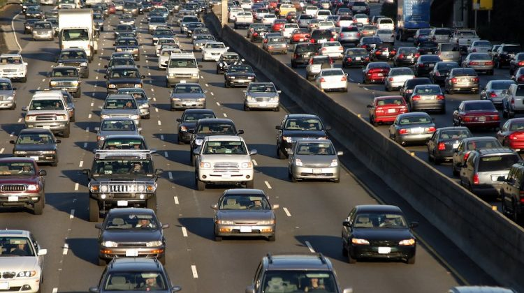 El tráfico en Los Angeles