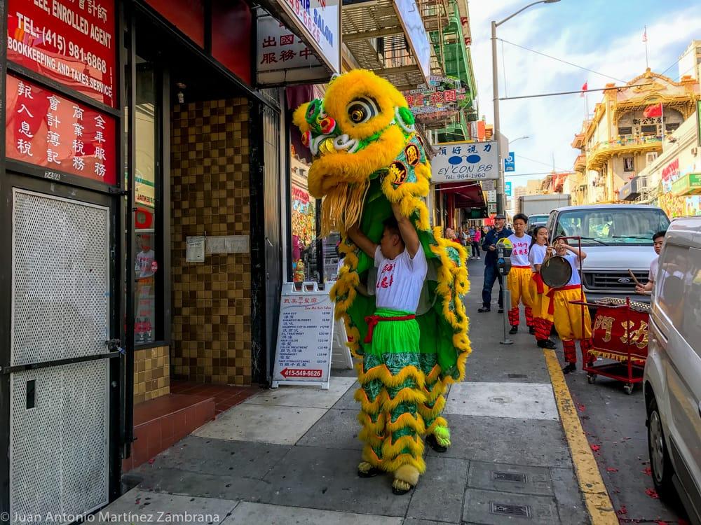 dragón chino en San Francisco