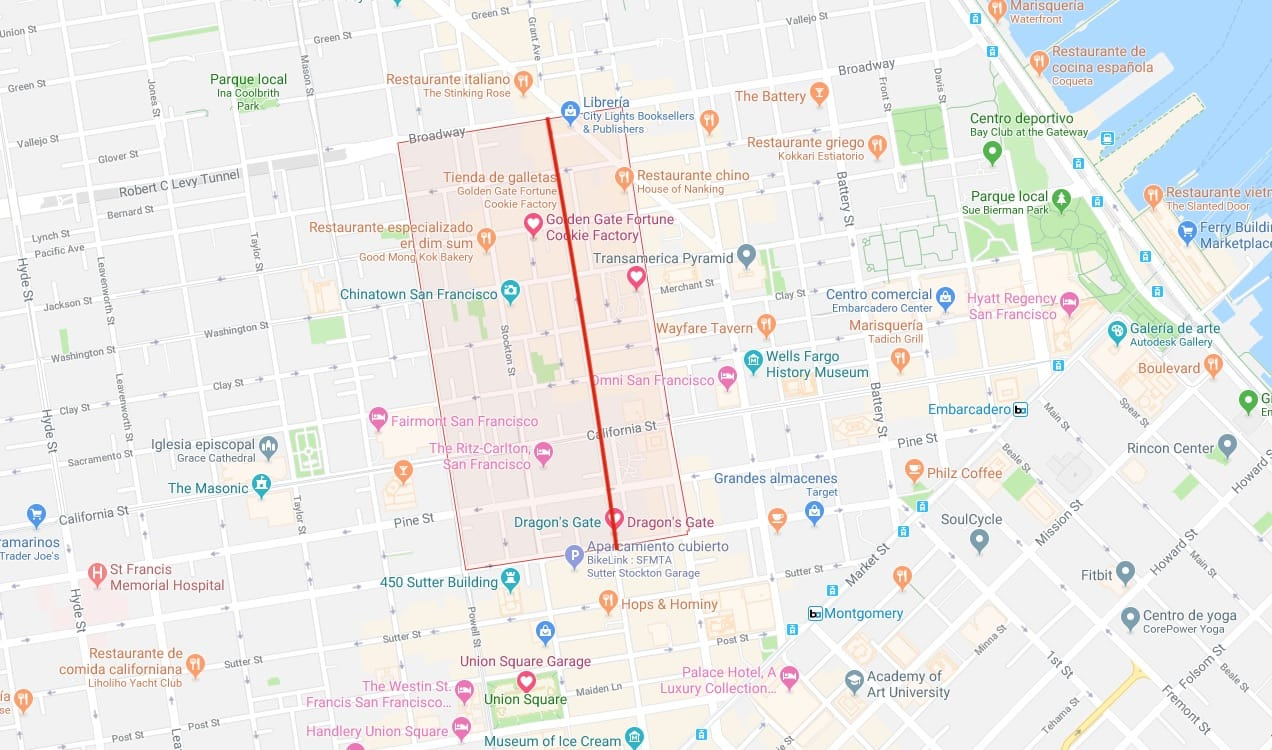 mapa barrio chino San Francisco