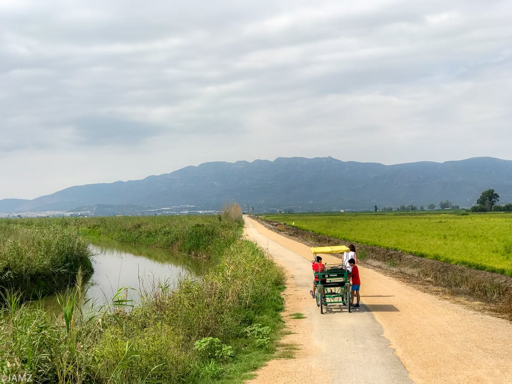 recorrer la delta en bicicar