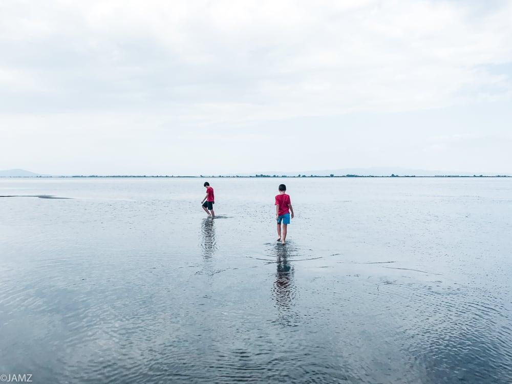 mar tranquilo en zona trabucador