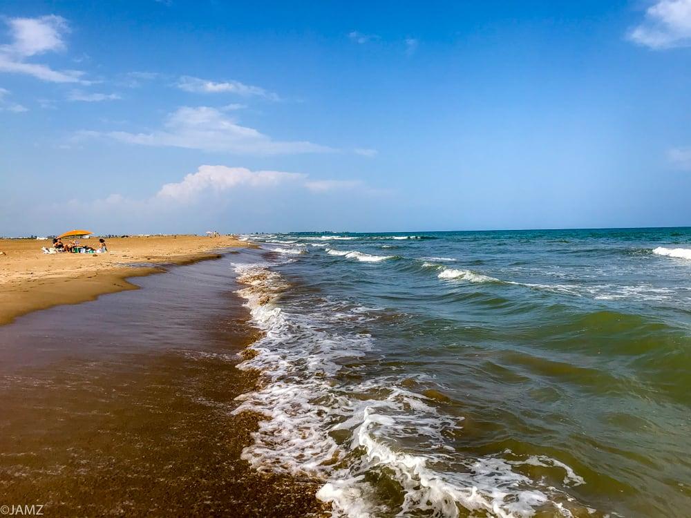 mar abierto en la zona del trabucador