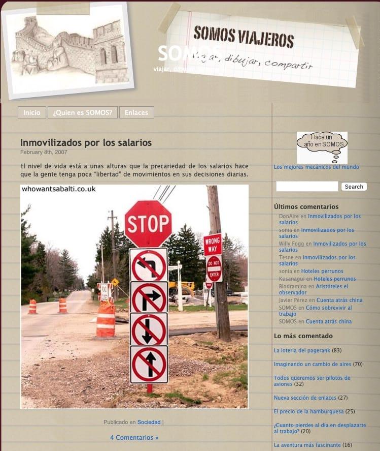 web somosviajeros en 2010