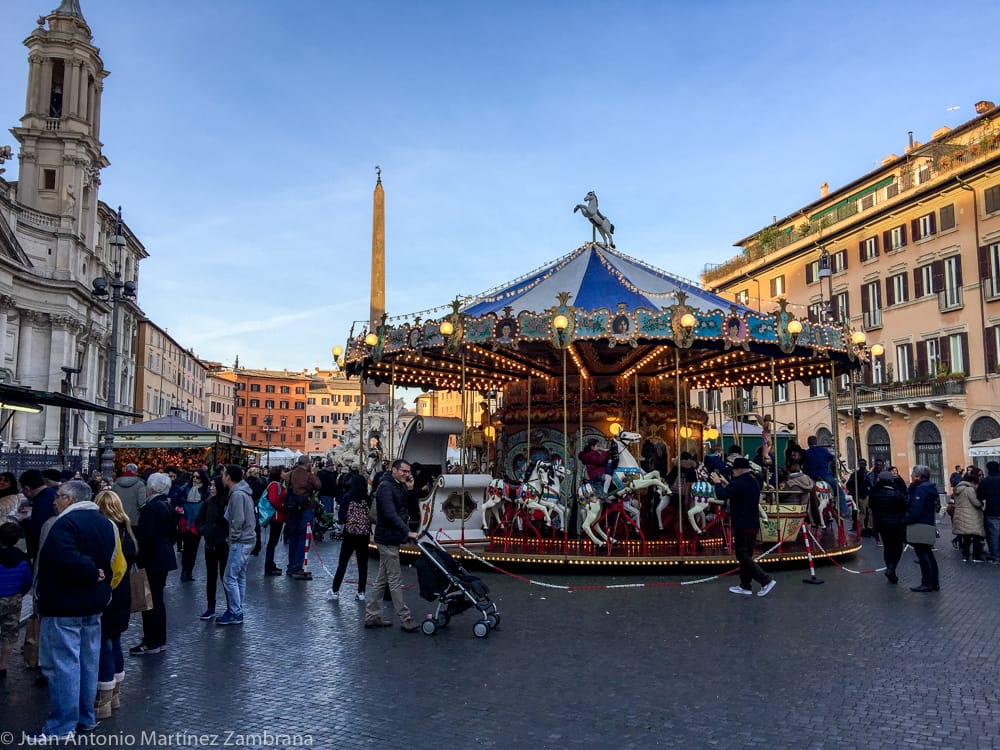 Piazza Navona en Navidad