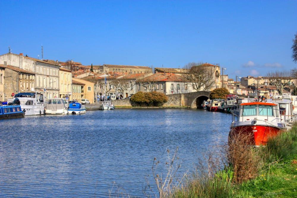 vista de Castelnaudary en el sur de Francia