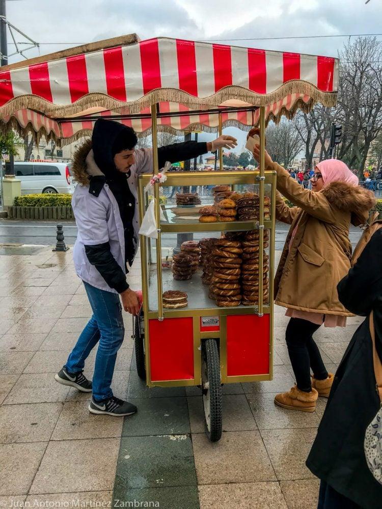 puesto comida en Estambul