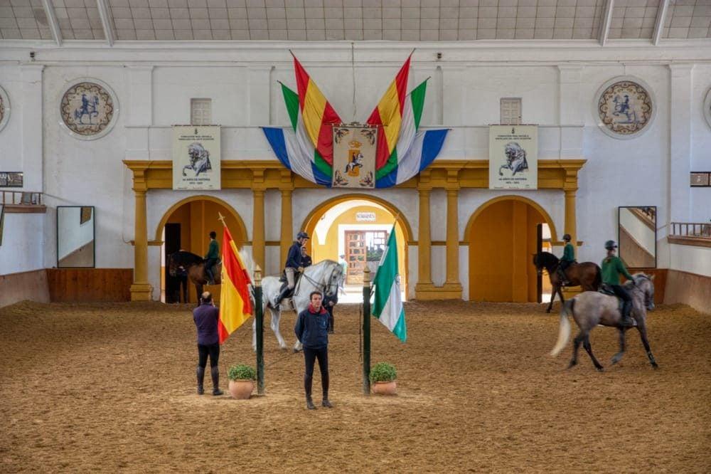 picadero en la Real Escuela del Arte Ecuestre en Jerez